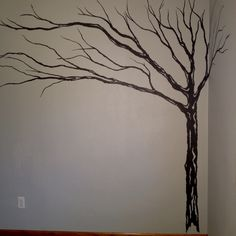 New tree painted in my room, britt did a great job!