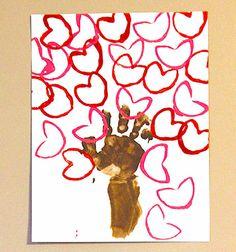 Árbol de San Valentín para preescolar