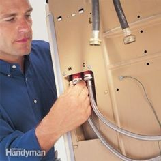FAMILY HANDYMAN A Burst Washing Machine Hose is a Top Homeowner-Insurance Claim I'd replace those flimsy rubber hoses with stainless steel ones. That way, you only need to worry about these other costly mistakes that could ruin you. Smelly Washing Machines, Washing Machine Hose, Dryer Lint Cleaning, Handyman Projects, Diy Projects, House Projects, Project Ideas, Home Fix, Appliance Repair