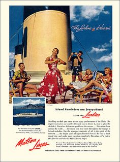 Matson Lines Cruise Ad, c1956 | Flickr - Photo Sharing!