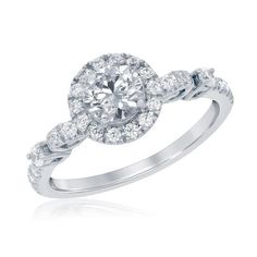 Enchanted Disney Cinderella's Carriage Diamond Engagement Ring 1ctw - Item RGO5405-W4CW-DS-IN   REEDS Jewelers