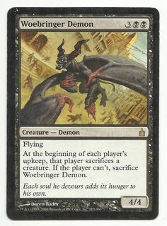 Woebringer Demon x1 MTG MP Ravnica Black Creature Magic Card EDH Commander TCG #WizardsoftheCoast