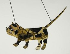 Cat, chinese shadow puppet, ca. 1900-1935.
