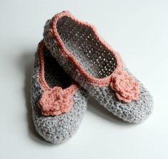 Crochet+Slippers | Crochet slippers | Felt