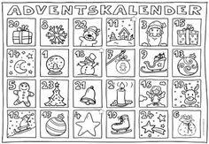 Ideenreise: Adventskalender zum Ausmalen
