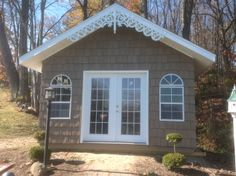 A happy customer sent us a photo of our GD-A style gable decoration installed. We couldn't help but share how awesome it looks on this shed! http://www.wholesalemillwork.com/gabledec/gda.html