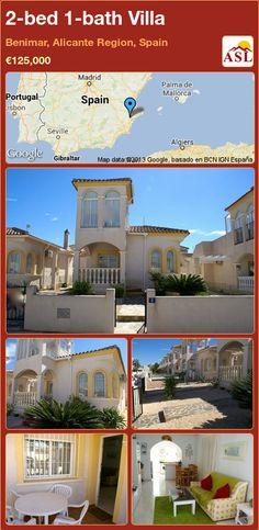 2-bed 1-bath Villa in Benimar, Alicante Region, Spain ►€125,000 #PropertyForSaleInSpain
