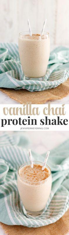 Vanilla Chai Protein Shake - JenniferMeyering.com