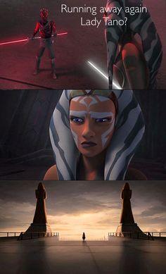 Running away again, Lady Tano? Ahsoka recalls the day she left the Jedi Order