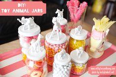 another cute mason jar topper idea using jungle animals