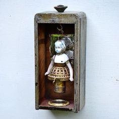 original antique art doll ornament German by ElizabethRosenArt, $145.00