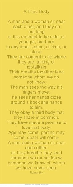 A Third Body by Robert Bly