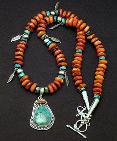 Tribal Jewelry, Turquoise Jewelry, Boho Jewelry, Jewelry Crafts, Jewelry Art, Beaded Jewelry, Handmade Jewelry, Jewelry Design, Beaded Necklace