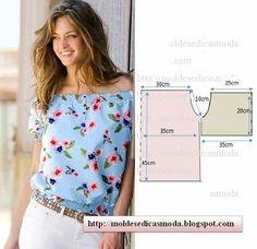 Moldes de roupa com molde com medidas e passo a passo