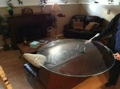REPLACEMENT GLASS - ROUND GLASS TABLE TOP WITH A FLAT POLISHED E Calgary Alberta image 5