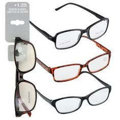 db91f3454716 Fashion Reading Glasses with +1.25 Diopters (Set of 3)