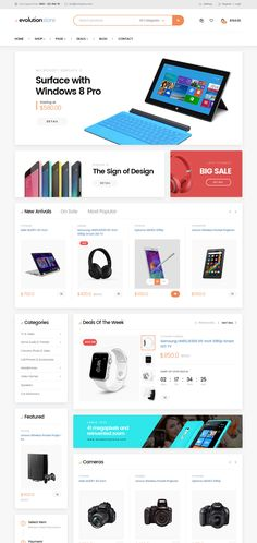 Evolution Store is a premium electronics magento 2 theme is especially designed for technology store like Laptop, Mobile & Accessories, Tablet, Camera,