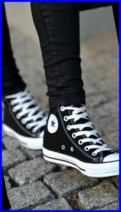 Mode Converse, Sneakers Mode, Black Sneakers, Sneakers Fashion, Converse Sneakers, Work Sneakers, Converse Star, Sneakers Style, Converse Shoes Outfit