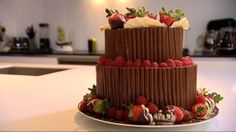 Delice noisette recipe by Eric Lanlard from Baking Mad with Eric Lanlard (Cake… Cake Recipes, Dessert Recipes, How To Roast Hazelnuts, Cake Boss, Cake Toppings, Celebration Cakes, Tiered Cakes, Cakes And More, Let Them Eat Cake
