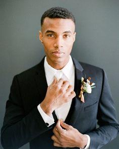 Cozy + Intimate attire for groom at a Winter Dinner Party Wedding Woodsy Wedding, Red Wedding, Wedding Shoot, Wedding Blog, Party Wedding, Wedding Flowers, Wedding Dress Sleeves, Long Sleeve Wedding, Groom Attire