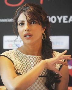 Bollywood actress Priyanka Chopra speaks during the news conference to promote her new film 'Teri Meri Kahani' at the International Indian Film Academy (IIFA) awards event in Singapore on June 9, 2012.