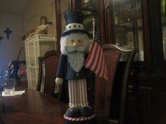 This is the Commanding Officer of all my nutcrackers.  He is the BOSS!