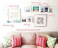 Get the Look: IKEA Gallery Wall. Everything you need to get this look is laid out for you and there are links to IKEA's website too.