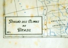 1922 Small and Tan and Old and Lovely Brazilian Map of the Climates of Brazil