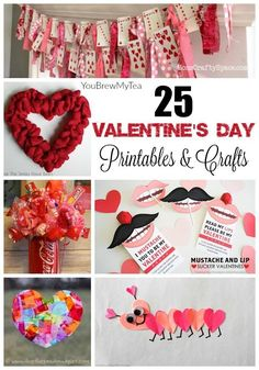 Don't miss our favorite list of 25 Valentine's Day Printables & Crafts for kids to make this year!  So many great projects and easy on the budget for a Frugal Valentine's Day!