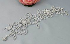 Beautiful Clear Rhinestone Sew on Applique Wedding Bridal Dress Craft RA023 | eBay