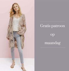 Gratis patroon op maandag - Haakpatroon Vest. Ontvang ieder maandag het gratis patroon en een leuke aanbieding van het garen.