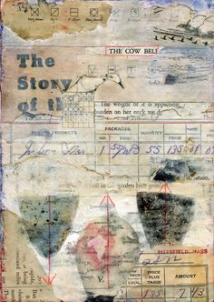 ⌼ Artistic Assemblages ⌼ Mixed Media & Collage Art - The Story of the Cow Bell by Laura Tringall Holmes