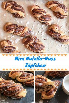 Leckere Mini Nutella-Nuss Zöpfchen, perfekt für diesen goldenen Herbst