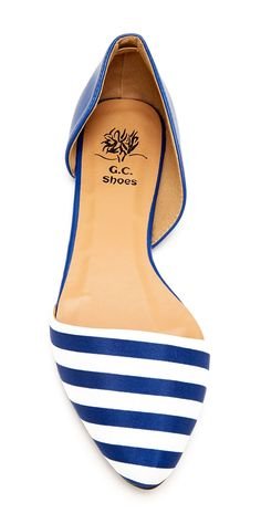 Stripe dOrsay Flats // or anything blue and white. WOMEN'S FLATS http://amzn.to/2jETOMx