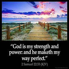 Imagem inspirada por 2 Samuel 22:33