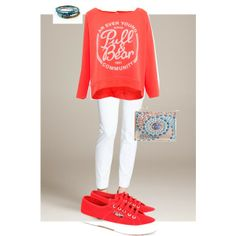 """""""coral bear"""" by meadresearch on Polyvore"""