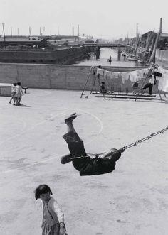 "by Shomei Tomatsu. ""Shipboard Elementary School (1), Fukagawa, Tokyo"" from ""Nippon Roots,"" 1956"