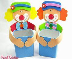 how to make souvenir day of children eva little clown Kids Crafts, Clown Crafts, Circus Crafts, Carnival Crafts, Foam Crafts, Diy And Crafts, Arts And Crafts, Carnival Birthday Parties, Circus Birthday