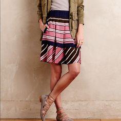 NWT ellrey stripe skirt  for antropologie Never worn. Great weight fabric. ⬇️price ⬇️ Anthropologie Skirts Midi