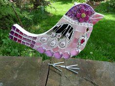 Pink Bling Bird | Flickr - Photo Sharing! by Mazzoni Mosaics, www.mazzonimosaics.webs.com