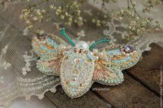 """Купить брошь бабочка мотылек """"Кружевница"""" - бежевый, брошь, брошь бабочка, брошь мотылек, кружево"""
