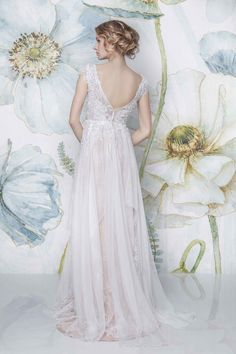 SADONI dress CHANA Bohemian weddingdress in silk chiffon and beaded lace, two piece outfit with CARA satin slip in nude