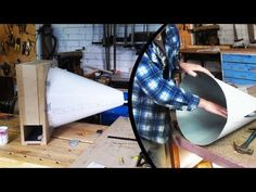 Make a Cyclone dust separator - The cone (part 2 of 3) (home made cyclone) - YouTube