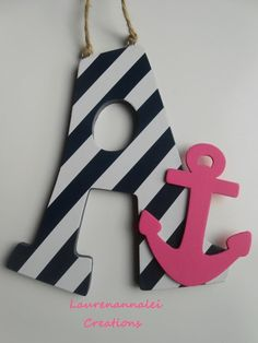 Anchor Decor  Wooden Letter Decor  Anchor Nursery by LaurenAnnaLei, $15.50 @Chandra & Jason