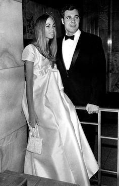 Love everything about this bride's sleek dress and 'do. | 15 Pieces Of 1960s Bridal Inspiration