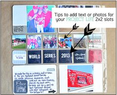 Tips to add text or photos for your PROJECT LIFE 2x2 slots www.thirtyhandmadedays.com