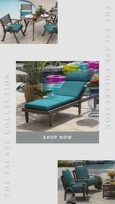Arden Selections Blue Pool Deck Cushions, Patio Cushions Outdoor Sofa, Outdoor Furniture Sets, Outdoor Decor, New Patio Ideas, Blue Pool, Patio Cushions, Sun Lounger, Deck, Essentials