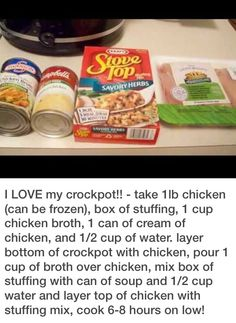 Crockpot Chicken Recipe by Crockpot Chicken Recipe by Related posts: Crockpot Chicken Recipes Easy Mexican Queso Slow Cooker Chicken Dinner Recipe! J… Sweet Hawaiian Crockpot Chicken Recipe Crock Pot Food, Crockpot Dishes, Crock Pot Slow Cooker, Slow Cooker Recipes, Crockpot Recipes, Chicken Recipes, Cooking Recipes, Recipe Chicken, Healthy Chicken