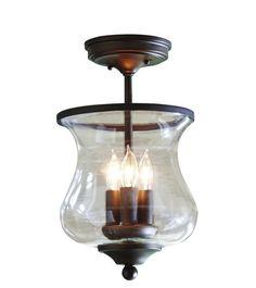 Light Fixture Bronze Kitchen Dining Room Entryway Glass Shade Semi Flush Mount  | Home & Garden, Lamps, Lighting & Ceiling Fans, Chandeliers & Ceiling Fixtures | eBay!