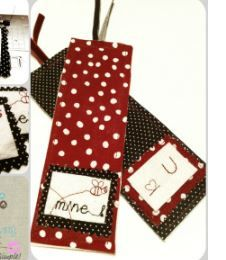 Be Mine Fabric Bookmark - Using a sewing machine or your hand-stitching skills, you can quickly make these fabric bookmarks out of whatever you have sitting around the house.